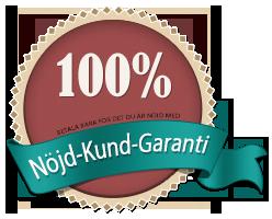 100% Nöjd-Kund-Garanti